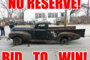 NO RESERVE! BID TO WIN! VERY RARE 1947 HUDSON PICKUP TRUCK! REMARKABLE PROJECT!