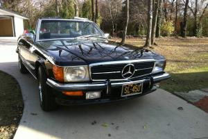 1972 MERCEDES BENZ 450SL CONVERTIBLE BLACK ON BLACK EURO IN MINT CONDITION