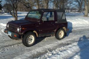 1988 Suzuki Samurai Sport Utility 4x4 1.3L 5 speed - No Reserve