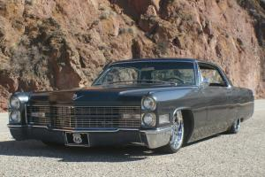 """1966 Cadillac Deville Bagged Slammed 22"""" Rims Stereo system 472 engine NICE RIDE"""