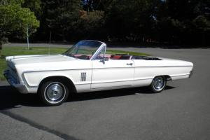 MOPAR 1966 Plymouth Fury III convertible 318 AT   white w/ red interior no rust
