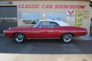 THIS IS A BEAUTIFUL RED/RED 1968 PONTIAC LEMANS TEMPEST CONVERTIBLE !!!!! -