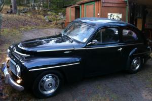 Volvo PV 544 1958 black good condition classic swedish european car vintage