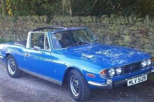 Triumph Stag 1977 with only 64,000 mls, lots of history