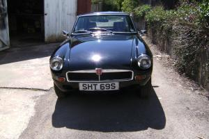 MG B GT 1978 BLACK TAXED AND MOT WITH PERSONALISED PLATE