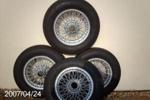 mgb original wire wheels x 4 with new tyres Photo