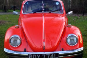 VW Volkswagen Classic GT Beetle 1972 1600 Tomato Red 1303S Tax Exempt Photo