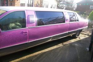 PINK 1996 Stretch limousine CADILLAC Fleetwood weddings proms