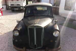 1953 triumph mayflower VALUABLE NUMBER PLATE barn find