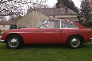 1968 MGB GT CHROME BUMPER MK II 4 SPEED WITH OVERDRIVE