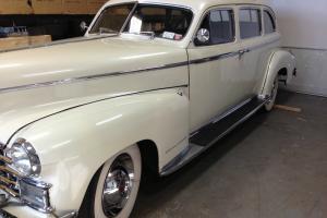 1948 Cadillac 75 series Fleetwood  limousine sedan jump seats flathead motor
