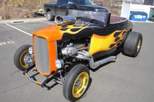 '32 Ford Roadster with a supercharged Big Block Chevy, TH400 transmission, EFI