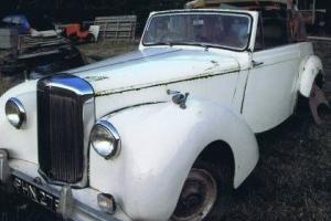 **BARN FIND* 1951 ALVIS TA21 Tickford Drophead Coupe Car. ONLY ONE ON EBAY! Rare Photo
