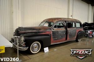 classic hearse , v8 , casket, funeral car,