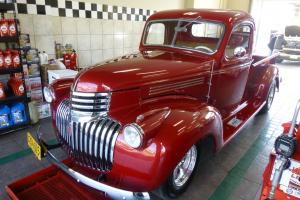 "1941 Chevy Pickup Truck 3100 V8 Dk Candy Apple Red ""Free Shipping"""