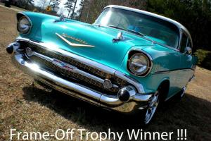 1957 CHEVROLET CHEVY BEL AIR HARDTOP HIGH-END FRAME-OFF...$125,000+ TO EQUAL IT
