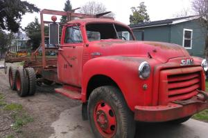 1951 GMC HCW404 truck Factory Tandem Drive 400 vintage flatbed log logging farm