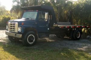 International Flatbed Dump Truck
