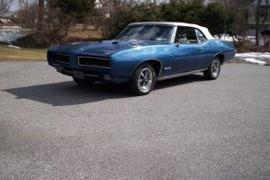 1969 PONTIAC GTO CONVERTIBLE NUMBER MATCHING PHS DOCUMENTS