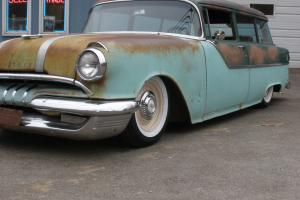 1955 pontiac wagon 2 door rat rod hot rod