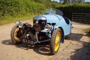 Morgan 3 three wheeler- vintage car bike classic barn find restoration project Photo