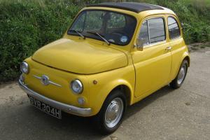 FIAT 500F - GENUINE ITALIAN CAR - FULLY RESTORED - UK REGISTERED - 1970/H REG