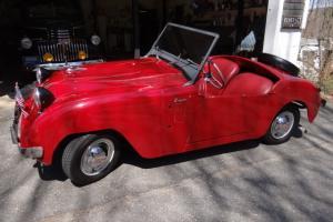 Vintage Rare Red Restored 1951 Crosley Hotshot Super Roadster 3 Speed Convertibe