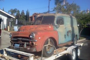 1951 DODGE B2-V PILOT-HOUSE B SERIES PANEL TRUCK COMPLETE CALIFORNIA VAN