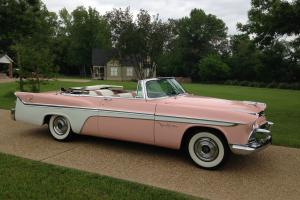 Pink w/ White Sweep 1956 DeSoto Fireflite Convertible Photo
