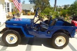 1947 Willys Jeep, blue CJ2A