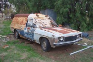Holden HQ Windowless Panelvan 1973 HJ Prem Front Project Parts 3 3 Kingswood in Bealiba, VIC