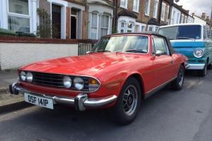 76 Triumph Stag Mk2. 3.0 V8 Auto. Hard & Soft Tops. Tax & MOT. Pimento Red. Photo