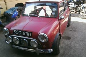 1969 Austin Mini Cooper 1275cc Genuine Classic Red / White Good Engine/Gearbox