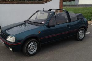 1993 Peugeot 205 CTI 1.9 convertible, dark blue, electric hood, 63k miles. Photo