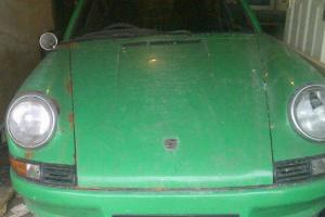 Porsche 911 T Coupe Conda Green 1971 needs work a nice project HPI CLEAR