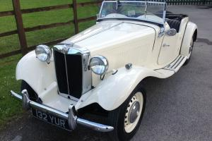 1951 LHD MGTD sportscar, sound example of a legendary classic