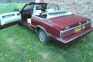 Classic American Chrysler Lebaron Convertible Red With Private