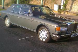 bentley mulsanne 1987 only 39000 miles gun metal grey with burg/cream leather
