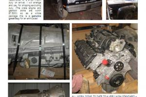 Dodge 5.8 HEMI NEW FACTORY BOXED ENGINE AND 3000 MILE GEAR BOX COMPLETE