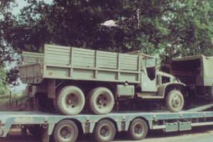 Military GMC Truck Troop Transport Short Chassis Canvas Top Cabin 1943
