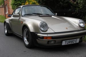 PORSCHE 930 TURBO 1986 WHITE GOLD 911 TURBO CLASSIC CAR IN UK.