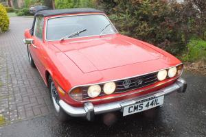 triumph stag MK1 Manual overdrive 1972 red original engine full mileage history
