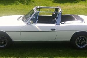 Triumph Stag, 1972 and road tax exempt.