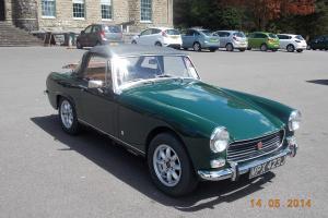 MG Midget 1971, British Racing Green; Mot March 15;Tax (free) Feb 15 lovely cond Photo