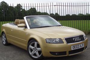 Audi A4 Cabriolet Sport 2.4 2003/03 2Door Convertible*SERVICE HISTORY*ELEC ROOF* Photo