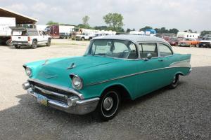 1957 CHEVY BEL AIR/150/210 2 DOOR POST RUNS GREAT NUMBERS MATCHING NO RESERVE