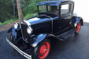 1930 Model A Ford Coupe Rumble Seat Runs Great, 64954 miles, Like New Interior
