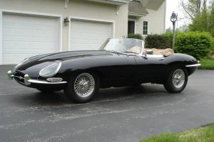 1963 Jaguar XKE Roadster Black Biscuit 51K Mi Performance & Reliability Upgrades