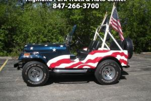 1976 Jeep CJ-5 / 1 of 2 Jeep Plant Artist 9-11 Collector Jeeps only 1200 miles!