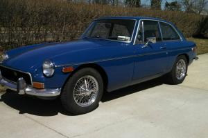 1972 MGB/GT 4-seat fastback, Tahiti Blue, extremely original down to interior!
